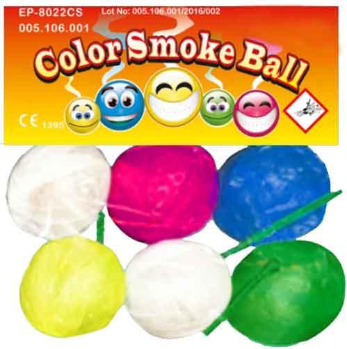 μπαλάκι καπνού color smoke ball (6 τμχ)