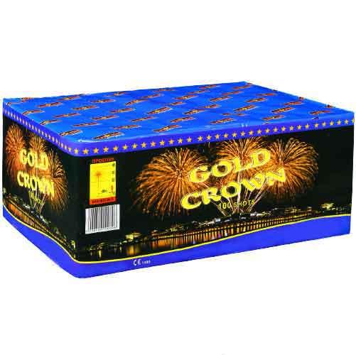 πυροτέχνημα 100 βολών gold crown