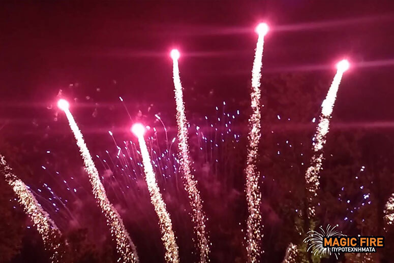 Εναέρια πυροτεχνήματα βεντάλιες