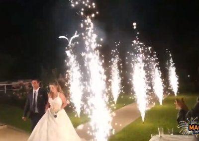 Πυροτεχνήματα γάμου στο κοσμικό κέντρο Amaro