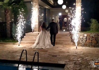 Πυροτεχνήματα γάμου στο κοσμικό κέντρο Corali