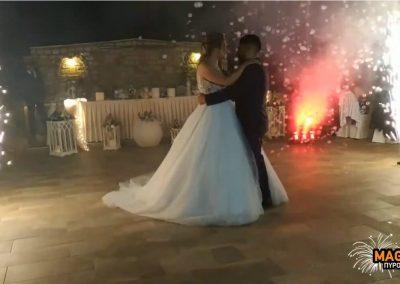 Πυροτεχνήματα γάμου στο Κτήμα Μάρι