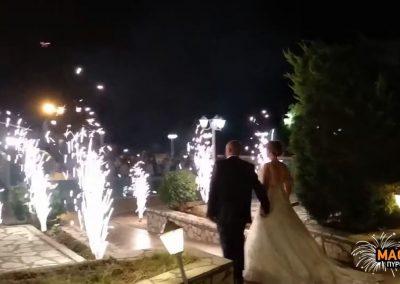 Πυροτεχνήματα γάμου στο κτήμα Παλούκι